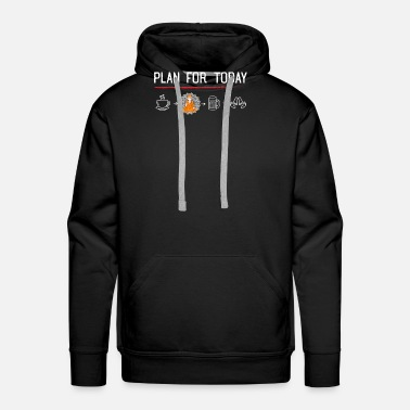 Nirvana Meditation is the plan - Buddha, Yoga, Chakra - Men's Premium Hoodie