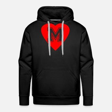 af5934f74c17 Herz Buchstabe M Initialien Name Idee Geschenk Men s Premium T-Shirt ...