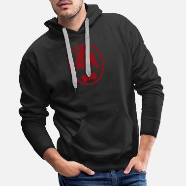Japanese Art Bonsai tree red Japanese art garden art - Men's Premium Hoodie