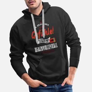 Beachvolleyball Beachvolleyball Sport Volleyball Strand Volley - Männer Premium Hoodie
