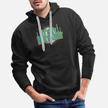 Birthday For Dad Birthday My Birthday Retro Candles Party Gift - Men's Premium Hoodie
