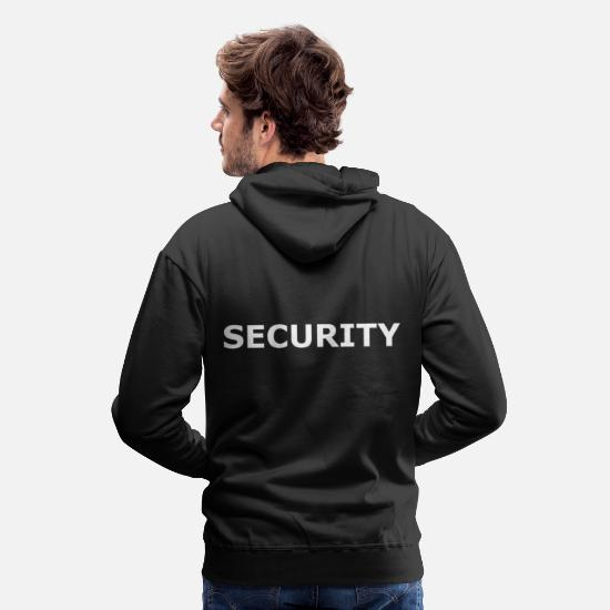 Police Hoodies & Sweatshirts - Security service clothing - Men's Premium Hoodie black