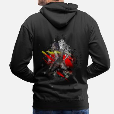 Naked Girl Erotic sexy woman modern art - Men's Premium Hoodie