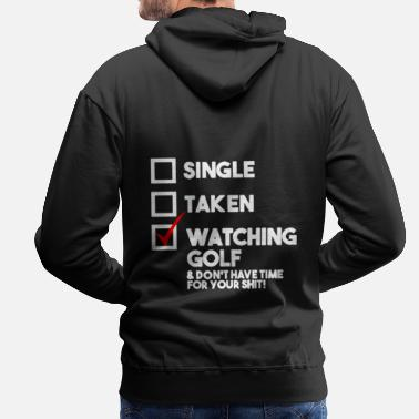 Golf Instrution Watching golf - Men's Premium Hoodie