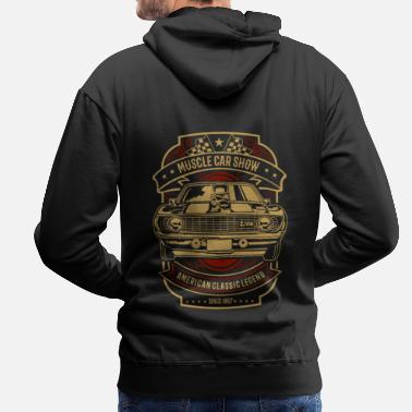 Muscle Muscle car show - Men's Premium Hoodie