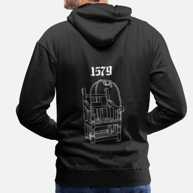 Witch 1579 Dunking Chair Tee - Men's Premium Hoodie