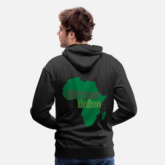 Continent Sweat-shirts - Union Africaine - Sweat à capuche premium Homme noir
