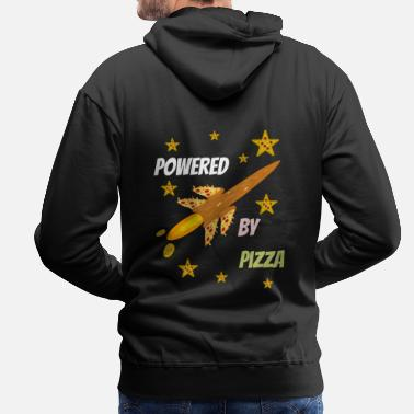 Pizza is my Life, Pizza, Power und Rakete. - Männer Premium Hoodie