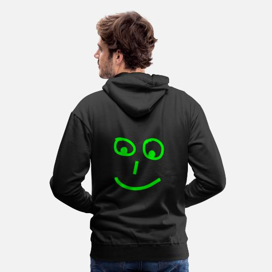 Face Hoodies & Sweatshirts - smiley - Men's Premium Hoodie black