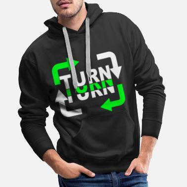 Turn Turn Turn Turn Arrows - Men's Premium Hoodie