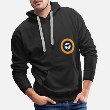 Royal Air Force Spitfire en la ronda de la Royal Air Force. - Sudadera con capucha premium hombre