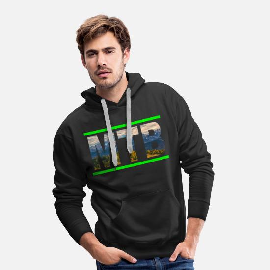 Downhill Pullover & Hoodies - Mountainbike MTB Mountainbiker Downhill Bike - Männer Premium Hoodie Schwarz