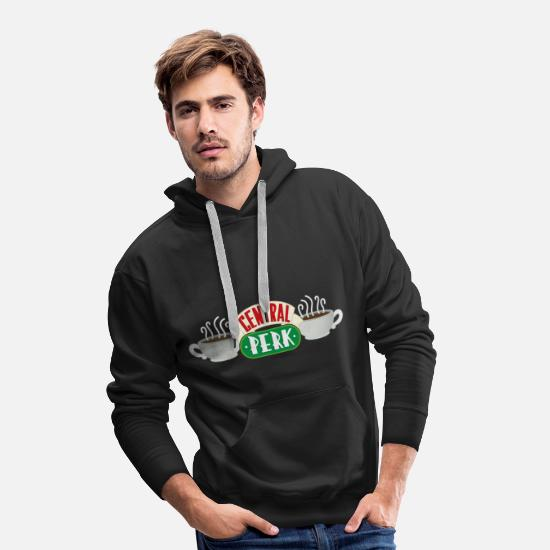 Friends Puserot ja hupparit - Friends Central Perk - Miesten premium huppari musta