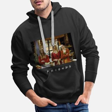 Friends Serie Merch Friends Monica, Rachel, Phoebe Kitchen - Premium hoodie herr