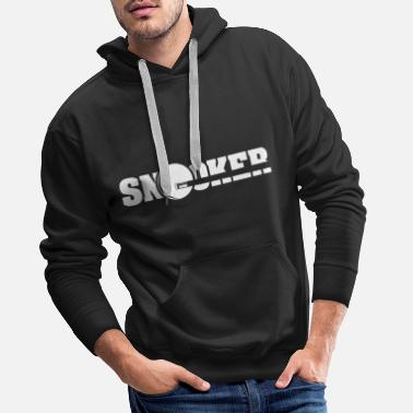 Queue snooker queue symbol - Men's Premium Hoodie