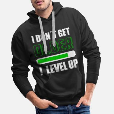 Video I DON´T GET OLDER I LEVEL UP - Felpa con cappuccio premium uomo