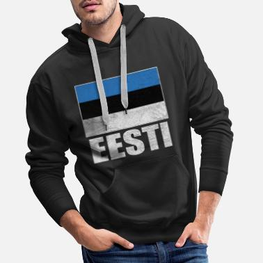 National Colours Estonia Nationality Flag Nation National Colors - Men's Premium Hoodie
