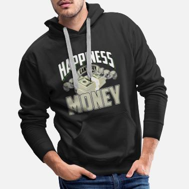 Dollar Bill Millionaire businessman money rich dollar bill - Men's Premium Hoodie