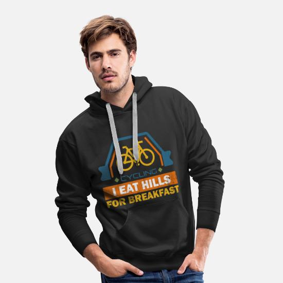 Bike Messenger Hoodies & Sweatshirts - Funny cyclist electric bicycle cyclist gift - Men's Premium Hoodie black