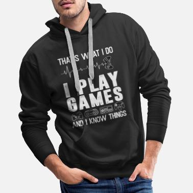 Video Video games gamers gaming - Men's Premium Hoodie
