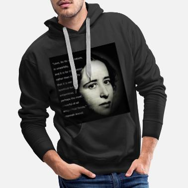 Hanna Arendt + quote (English) - Men's Premium Hoodie