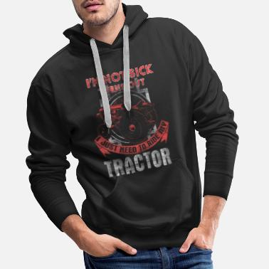Pull Tractor bulldog agriculture gift - Men's Premium Hoodie