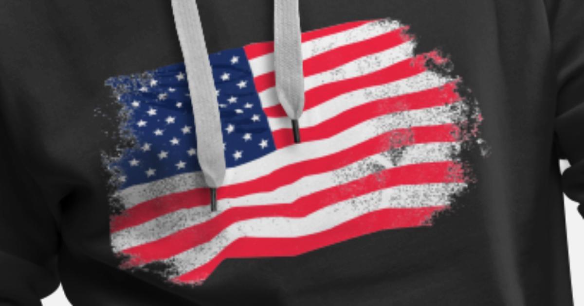 USA Flag Vintage Look Premium hoodie herr | Spreadshirt