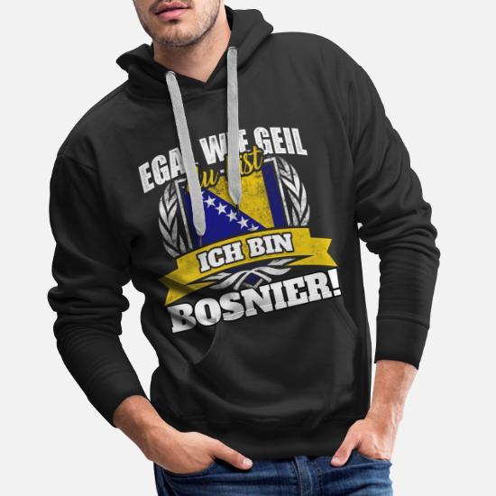 Bosnier Bosnien Bosnierin bosnisch Geschenk Männer Premium Hoodie Weiß