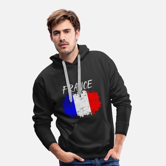 Grungy Hoodies & Sweatshirts - France - Men's Premium Hoodie black