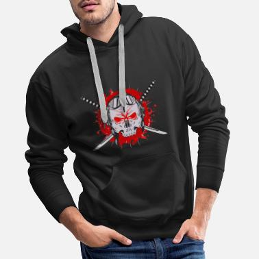 Jiujitsu Gaming Ninja Blued - Men's Premium Hoodie