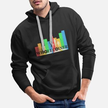 Btc Bitcoin Wholecoiner Crypto fans gift - Men's Premium Hoodie