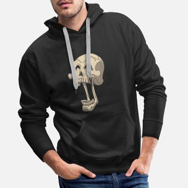 Treat Skull skull skeleton yawning - Men's Premium Hoodie