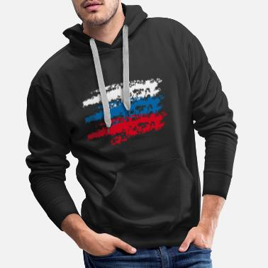 Flag Russia Russia country flag flag National 3c - Men's Premium Hoodie