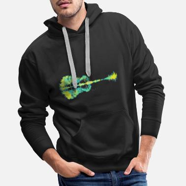 Guitare naturelle - Sweat à capuche premium Homme
