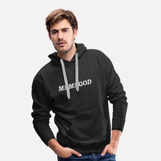 Meme Hoodies & Sweatshirts - MEMEGOD (Meme God T-Shirt) - Men's Premium Hoodie black