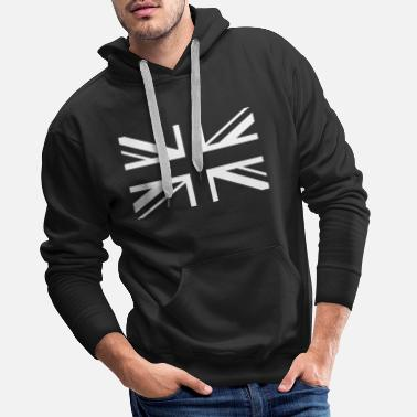 Jack England Flag Union Jack Black White - Men's Premium Hoodie