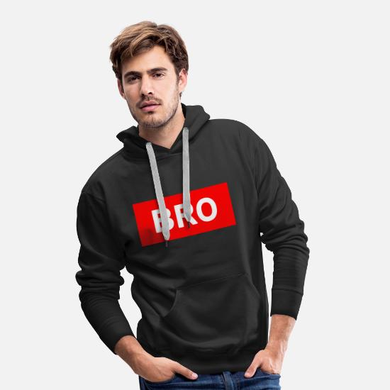 Bro Sweat-shirts - Bro - Sweat à capuche premium Homme noir