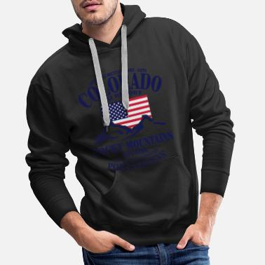 Ski Resort Colorado Ski Resort - United States - Felpa con cappuccio premium uomo