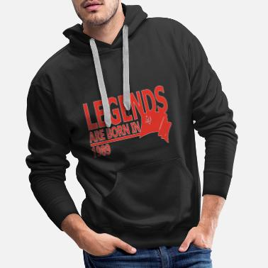 Hammer Legends are Born in 1989 gift idea - Men's Premium Hoodie