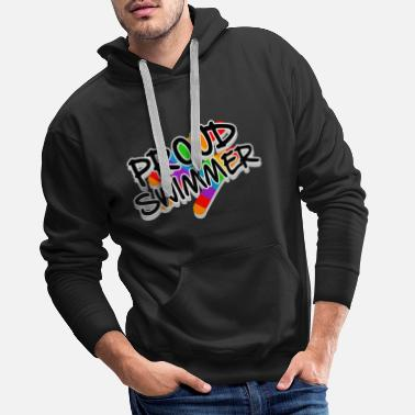 No Limit Proud Swimmer - rainbow flag and colors - Männer Premium Hoodie