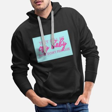 Cry Baby - roze / turquoise - Mannen premium hoodie