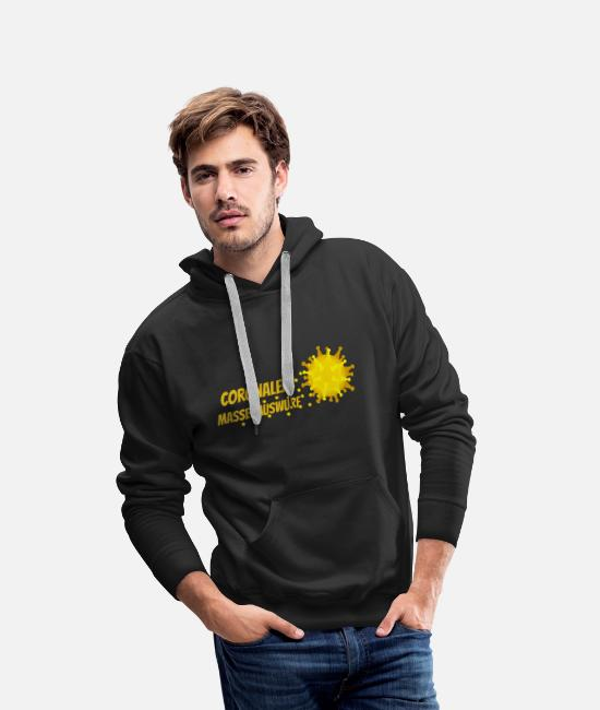 Influenza Hoodies & Sweatshirts - Coronal mass throwing - Men's Premium Hoodie black