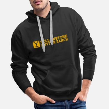 Ranch Yellowstone dutton ranch logo - Mannen premium hoodie