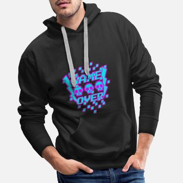 Game Over Game Over Pixel - Men's Premium Hoodie