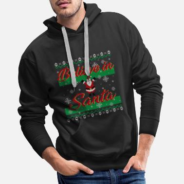 Ugly Christmas Sweater (Papá Noel) - Sudadera con capucha premium hombre