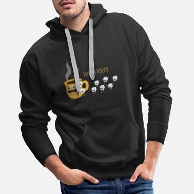 Tasty Coffee Sugar Funny Mug Coffee Friends - Men's Premium Hoodie