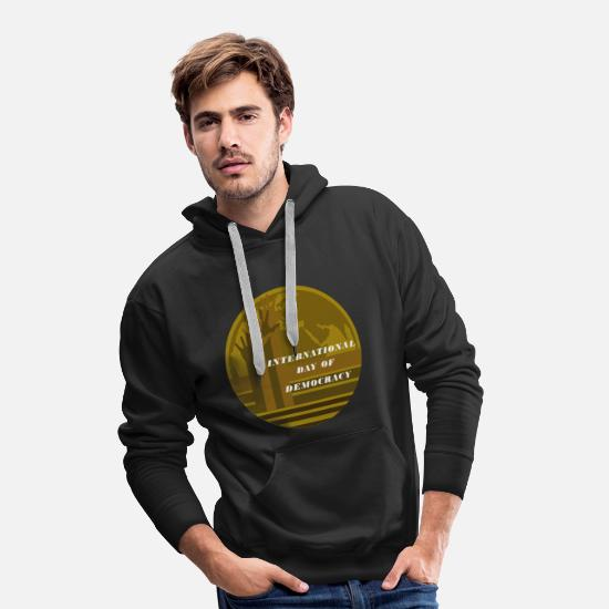 Gift Idea Hoodies & Sweatshirts - Democracy Festival Day of Remembrance Germany Election UN - Men's Premium Hoodie black
