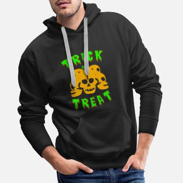 Trick Or Treat Trick or treating! Trick or treat! - Men's Premium Hoodie