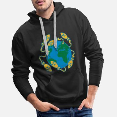 World War 3 world war nuclear war world end war atombomb - Men's Premium Hoodie