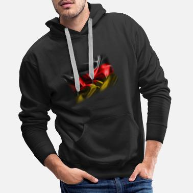 Federal Republic Of Germany Germany flag Germany black red gold flag - Men's Premium Hoodie